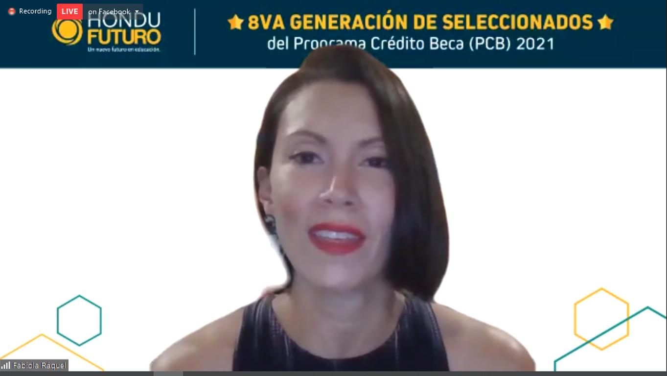 Fabiola Raquel. Directora Ejecutiva de Fundación HonduFuturo